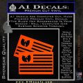 Wu Tang Flag Decal Sticker Wunited States Of America Orange Emblem 120x120