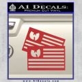 Wu Tang Flag Decal Sticker Wunited States Of America Red 120x120