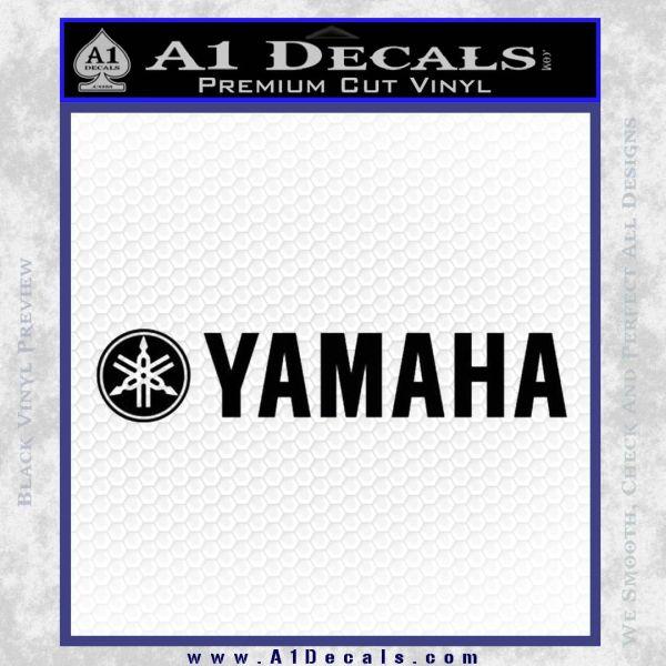 Yamaha Decal Sticker Wide Black Vinyl