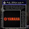 Yamaha Decal Sticker Wide Orange Emblem 120x120