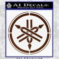 Yamaha Tuning Fork Decal Sticker ALT BROWN Vinyl 120x120