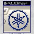 Yamaha Tuning Fork Decal Sticker ALT Blue Vinyl 120x120