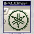 Yamaha Tuning Fork Decal Sticker ALT Dark Green Vinyl 120x120