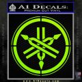 Yamaha Tuning Fork Decal Sticker ALT Lime Green Vinyl 120x120