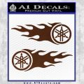 Yamaha Tuning Fork Flames 2Pk Decal Sticker BROWN Vinyl 120x120