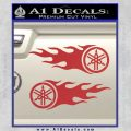 Yamaha Tuning Fork Flames 2Pk Decal Sticker Red 120x120