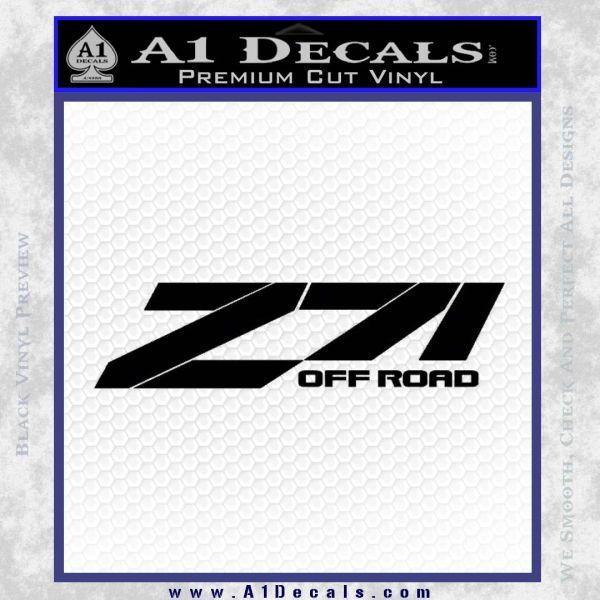 Z71 decal sticker chevy black vinyl 120x120