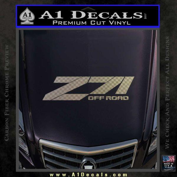 Z71 decal sticker chevy carbon fiber chrome vinyl 120x120