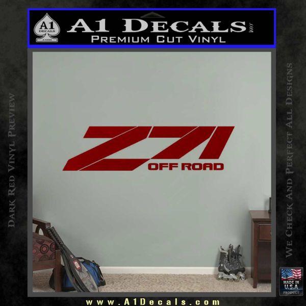 Z71 decal sticker chevy drd vinyl 120x120