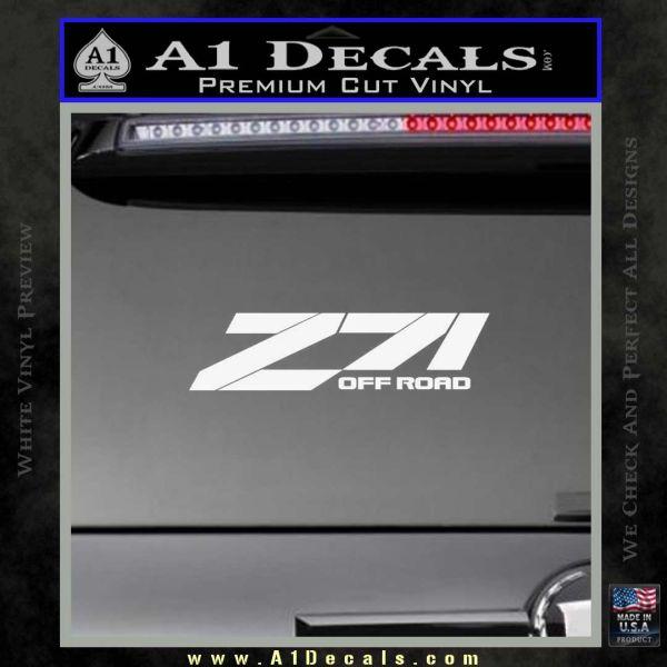 Z71 decal sticker chevy gloss white vinyl 120x120