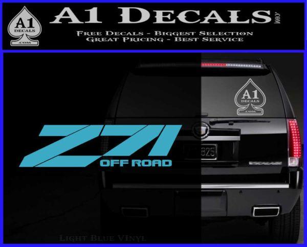 Z71 decal sticker chevy light blue vinyl 120x97
