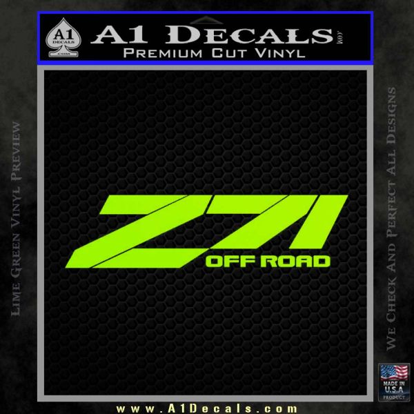 Z71 decal sticker chevy lime green vinyl