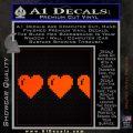Zelda Decal Sticker 8 Bit Hearts Orange Emblem 120x120