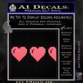 Zelda Decal Sticker 8 Bit Hearts Pink Emblem 120x120