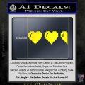 Zelda Decal Sticker 8 Bit Hearts Yellow Laptop 120x120