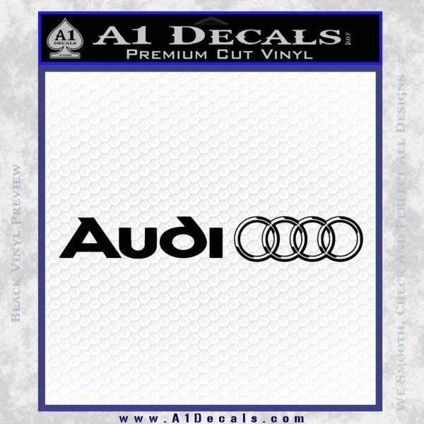 audi windshield decal des Decal Sticker Black Vinyl