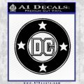 DC Comics Decal Sticker CR Black Vinyl 120x120