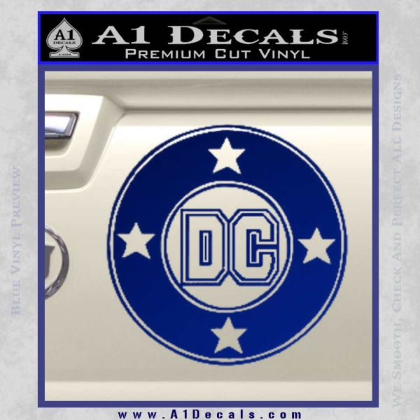 DC Comics Decal Sticker CR Blue Vinyl