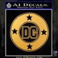 DC Comics Decal Sticker CR Gold Vinyl 120x120