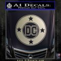 DC Comics Decal Sticker CR Metallic Silver Emblem 120x120