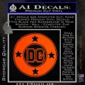 DC Comics Decal Sticker CR Orange Emblem 120x120