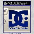 DC Shoes USA Decal Sticker Blue Vinyl 120x120