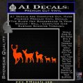 Deer Family Decal Sticker Orange Emblem 120x120