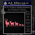Deer Family Decal Sticker Pink Emblem 120x120