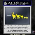 Deer Family Decal Sticker Yellow Laptop 120x120
