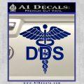 Dentist Dentistry DDS Symbol Decal Sticker Blue Vinyl 120x120