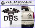 Dentist Dentistry DDS Symbol Decal Sticker Carbon FIber Black Vinyl 120x97