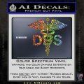 Dentist Dentistry DDS Symbol Decal Sticker Glitter Sparkle 120x120