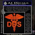 Dentist Dentistry DDS Symbol Decal Sticker Orange Emblem 120x120