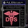 Dentist Dentistry DDS Symbol Decal Sticker Pink Emblem 120x120