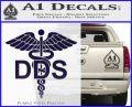 Dentist Dentistry DDS Symbol Decal Sticker PurpleEmblem Logo 120x97