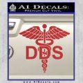 Dentist Dentistry DDS Symbol Decal Sticker Red 120x120