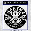 Department Of Awesome Decal Sticker Black Vinyl 120x120