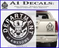 Department Of Awesome Decal Sticker Carbon FIber Black Vinyl 120x97