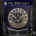Department Of Awesome Decal Sticker Carbon FIber Chrome Vinyl 120x120