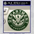 Department Of Awesome Decal Sticker Dark Green Vinyl 120x120