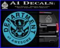 Department Of Awesome Decal Sticker Light Blue Vinyl 120x97