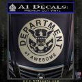 Department Of Awesome Decal Sticker Metallic Silver Emblem 120x120
