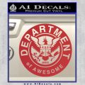 Department Of Awesome Decal Sticker Red 120x120