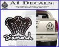 Diamond Hands D2 Decal Sticker Carbon FIber Black Vinyl 120x97