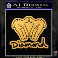 Diamond Hands D2 Decal Sticker Gold Vinyl 120x120