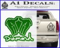 Diamond Hands D2 Decal Sticker Green Vinyl Logo 120x97