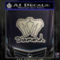 Diamond Hands D2 Decal Sticker Metallic Silver Emblem 120x120