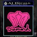 Diamond Hands D2 Decal Sticker Pink Hot Vinyl 120x120