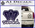 Diamond Hands D2 Decal Sticker PurpleEmblem Logo 120x97