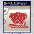 Diamond Hands D2 Decal Sticker Red 120x120